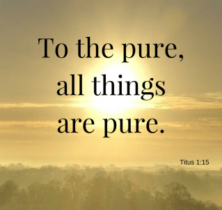 to the pure all things are pure