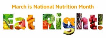 Nutrition Month Banner stating Eat Right!