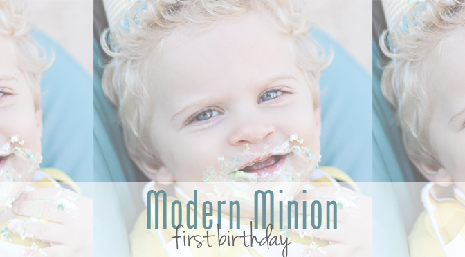Modern Minion First Birthday