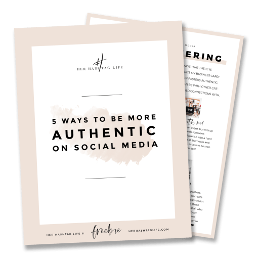 FREEBIE: How to be more authentic on social media