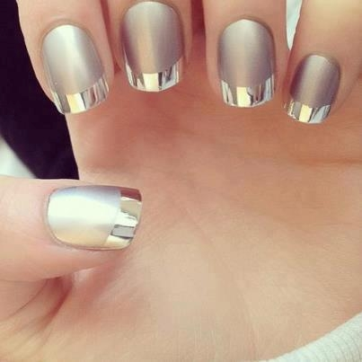 Air Brushed French Tips Nail Art Design