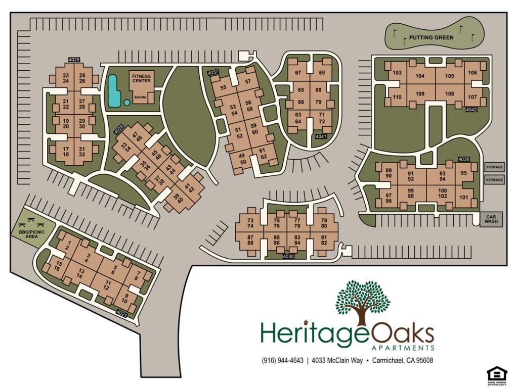 Heritage Oaks Apartments sitemap