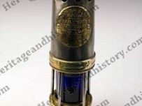 Miners Lamp with blue glass