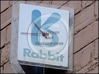 Rabbit phone point sign in Carlisle
