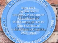 Blue plaque - Thomas Woodrow