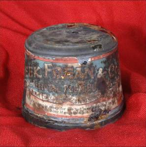 The 111 year old plum pudding has only recently been found
