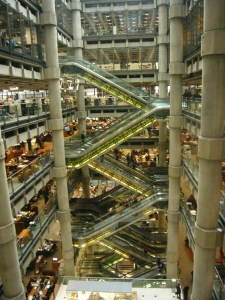 Escalators in atrium. Pic English Heritage