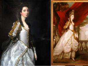 The paintings of Susanna 'Suky' Trevelyan and Charlotte Walpole, the Countess of Dysart. Pic NT