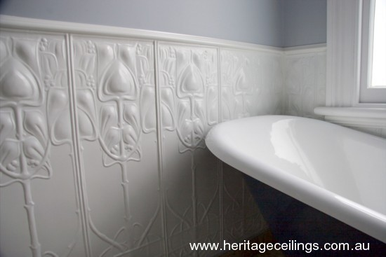 Feature Walls Created From Decorative Pressed Metal Panels