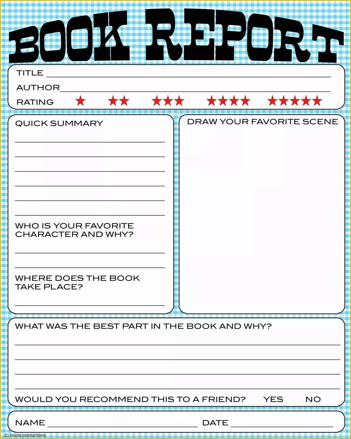 35 2nd Grade Book Report Template Free