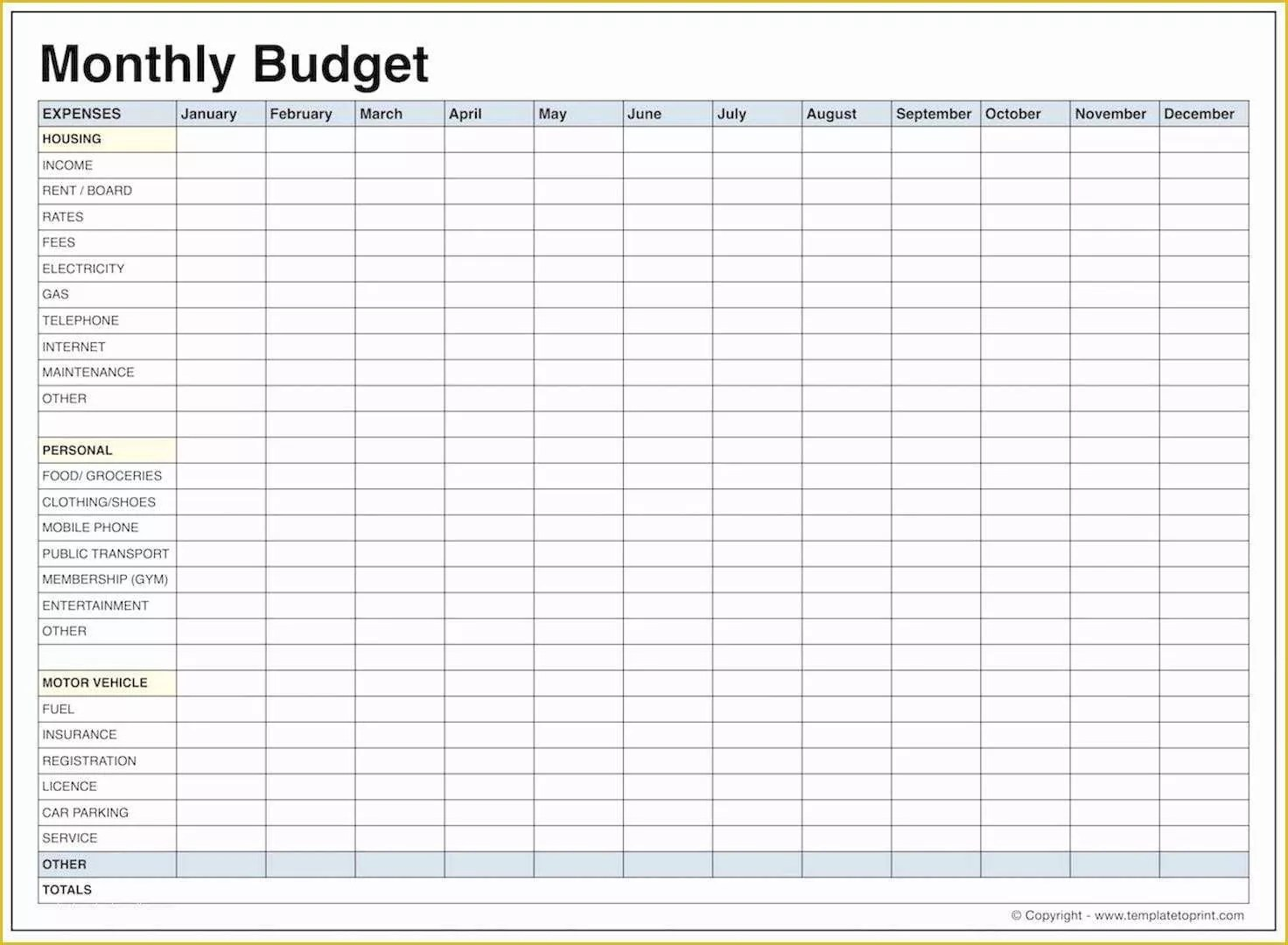 Free Printable Budget Templates Of Free Printable Monthly