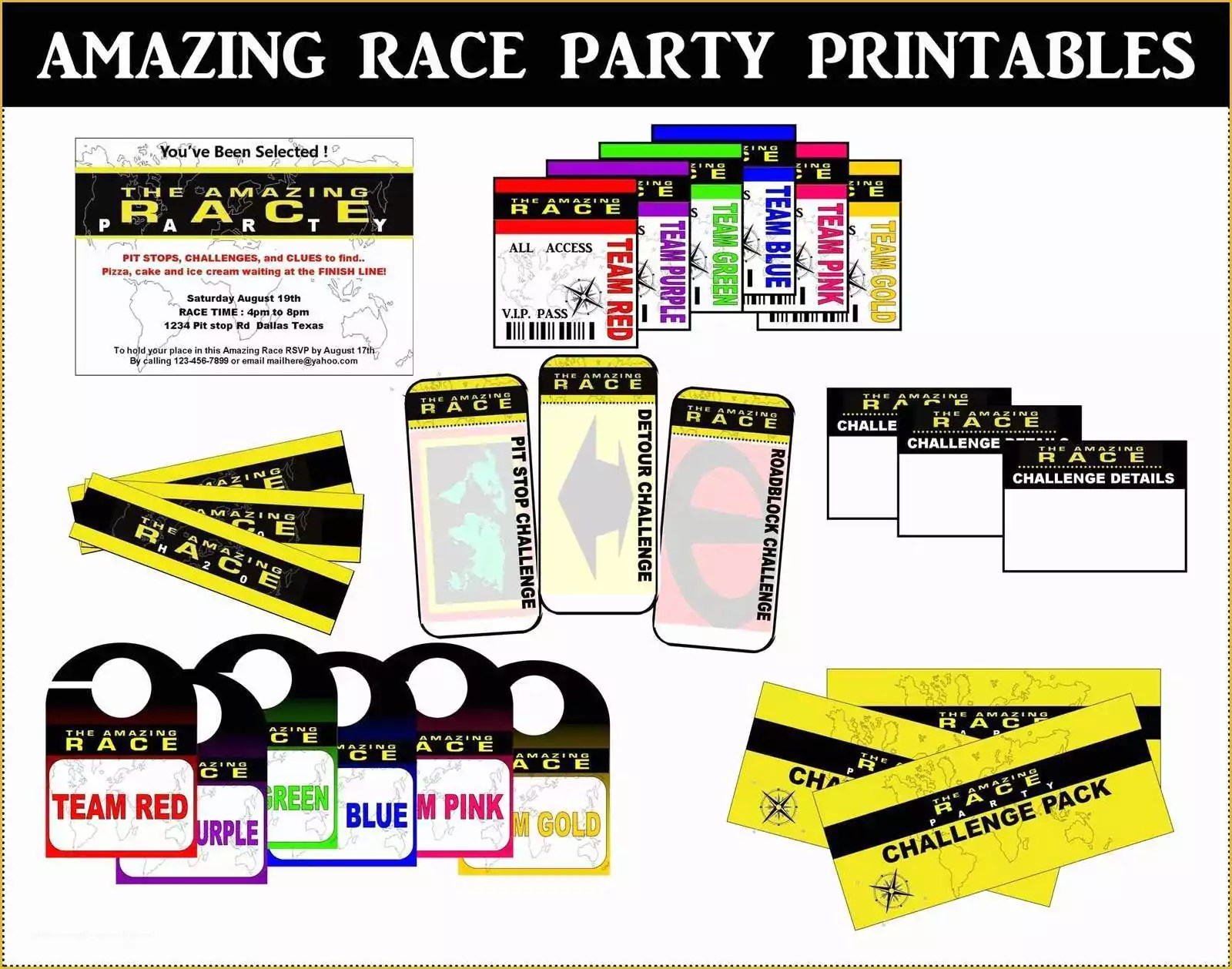 45 Amazing Race Editable Templates Free