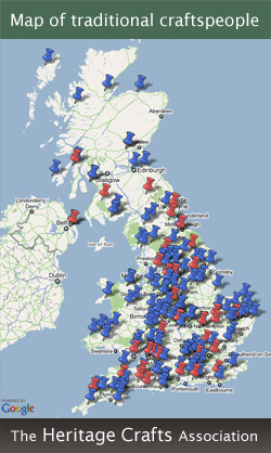The Heritage Crafts Association - Map of traditional craftspeople