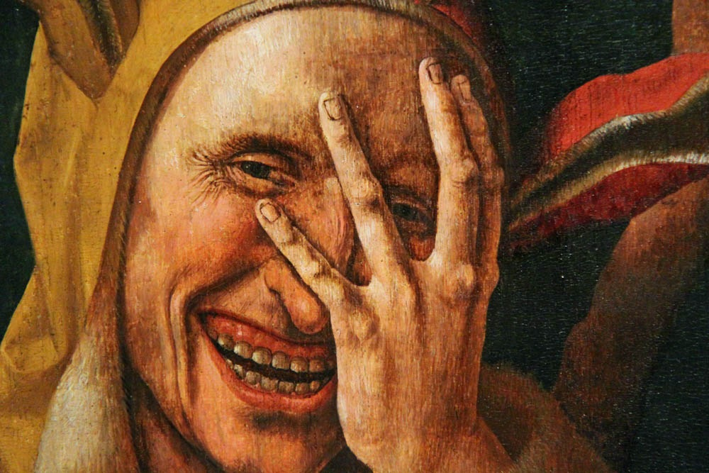 Image result for medieval ages against laughter