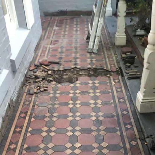 Porch Tessellated Repair Step 1