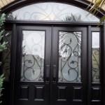 Steel door in black