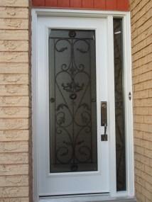 Closeup on new door