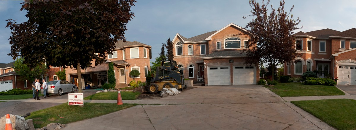 Panorama of homes