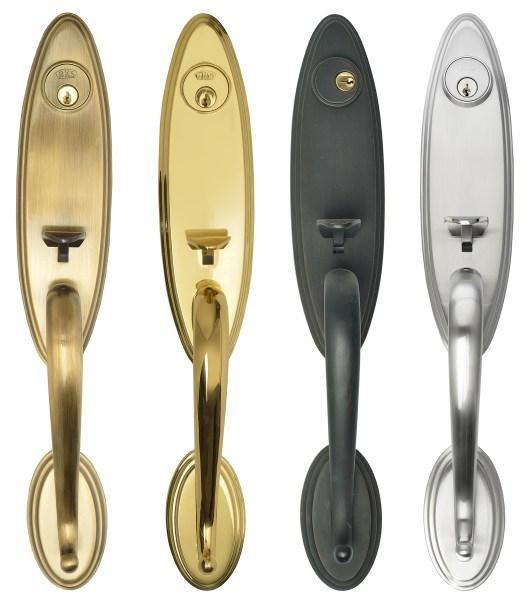 Grip set door handles