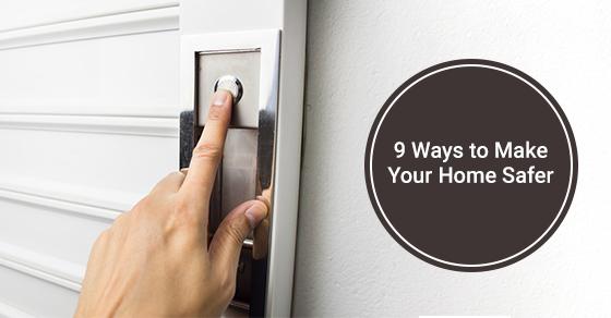 A secured garage door to make home safer