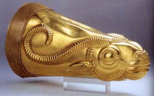 Gold Rhyton found in Ecbatana