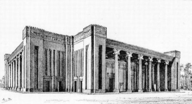 Reconstruction of the Apadana (Audience Hall) at Susa