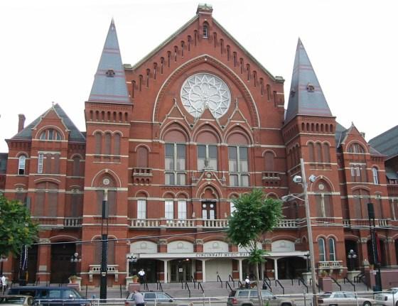 Attribution: http://en.wikipedia.org/wiki/Samuel_Hannaford#mediaviewer/File:Cincinnati_Music_Hall_2002a.jpg