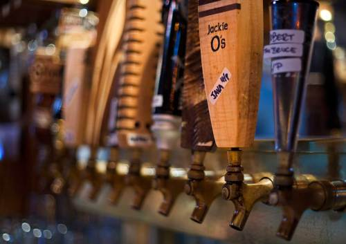 Taps at Jackie Os Brewery - Best Breweries in Ohio