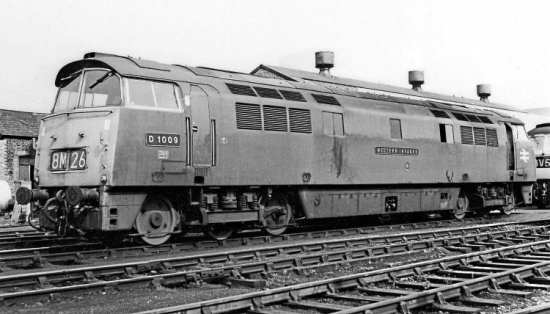 Western delight: Class 52 D1009 Western Invader at Gloucester's Horton Road depot on August 22, 1970. The diesel-hydraulic's nameplate and cabside numberplate have been reunited 40 years after the letter and numbers were removed by a BR driver, NORMAN PREEDY