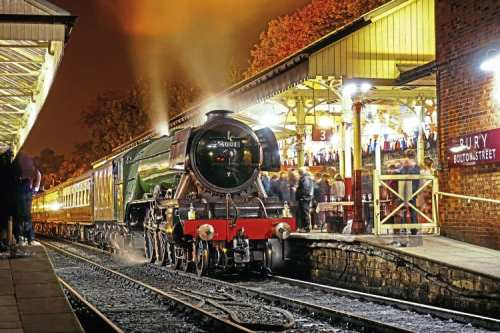 Flying Scotsman hauled a special dining train over the line on October 14. It is seen at Bury (Bolton Street) station. The photographer is Liam Barnes, a 15-year-old rail and photography enthusiast from Bury, who aims to become a member of the railway when he reaches 16. LIAM BARNES.