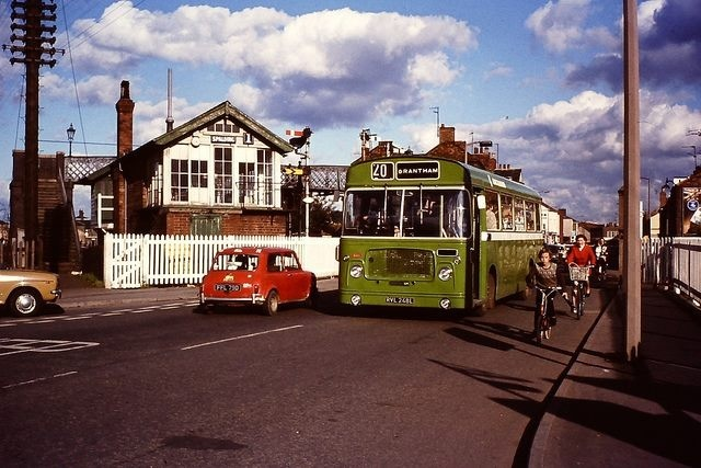Bus crossing Eight Gates in Spalding