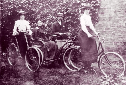 Edwardian Cyclists in South Holland