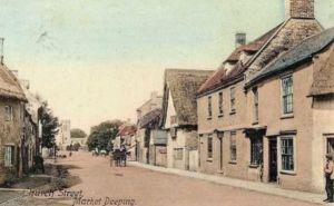 AOS P 1821 church st postcard market deeping 1905