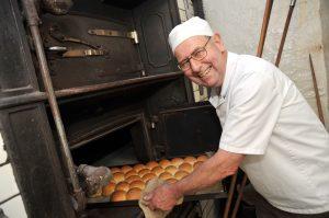 Richard baking rolls