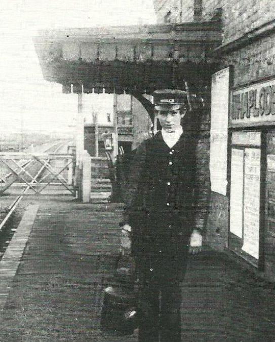 Lamp boy at Whaplode Railway Station