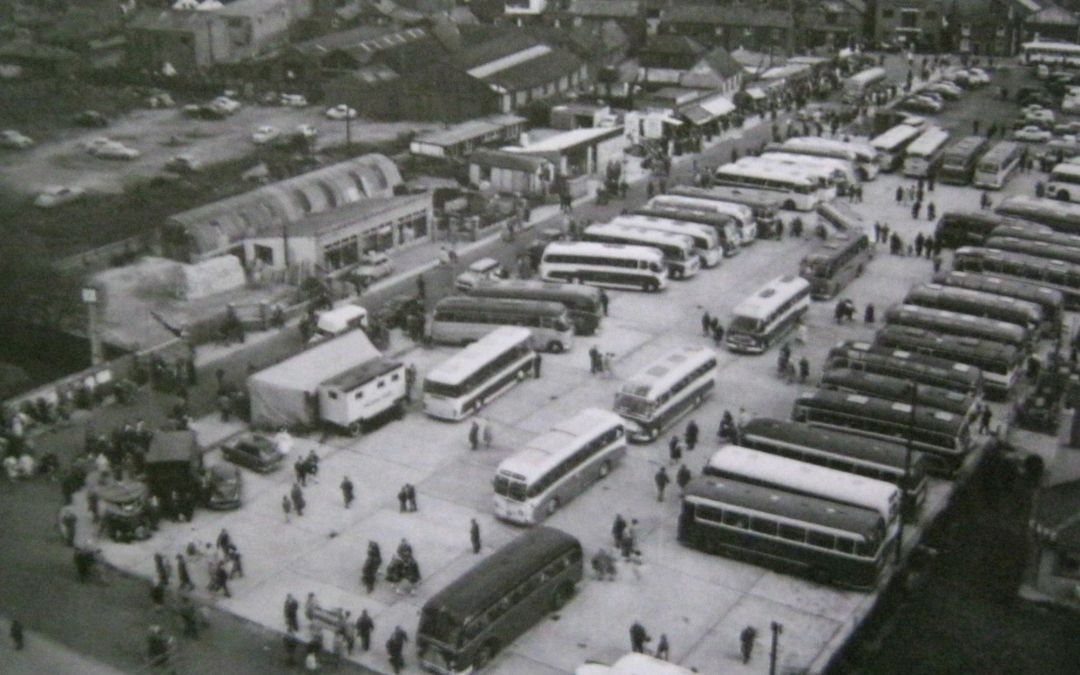 Winfrey Avenue Car Park seen from the Water Tower 1961