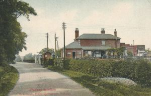 AOS P 3393 GEDNEY STATION, postcard, .1910  Published by E.R.Swain, Printer & Bookseller, Holbeach.