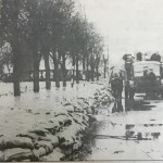 Cowbit Road, Spalding, was one of the town's roads heavily sandbagged to try to preventine flooding. (Picture borrowed from Ayscoughfee Hall Museum, from the collection of Mr John Honnor)