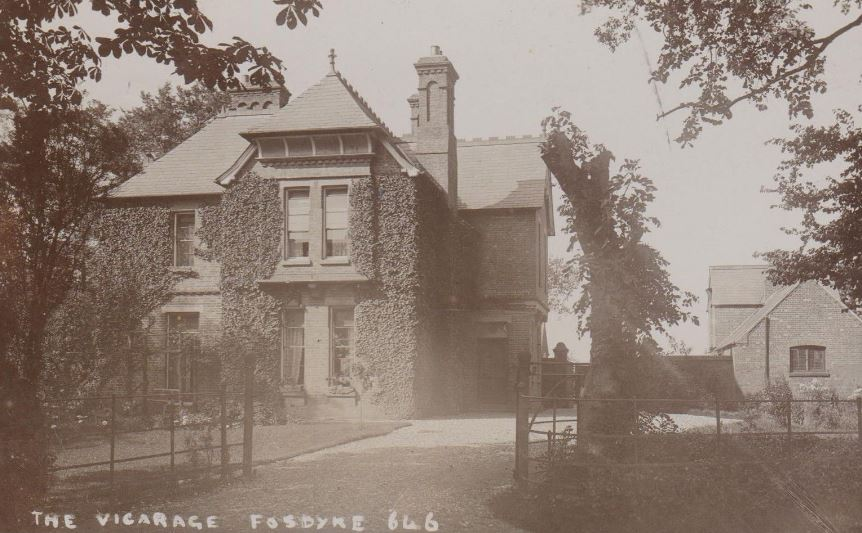 Fosdyke Vicarage 1913 E Gray Card