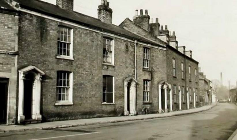 View along Albion St Spalding in 1941