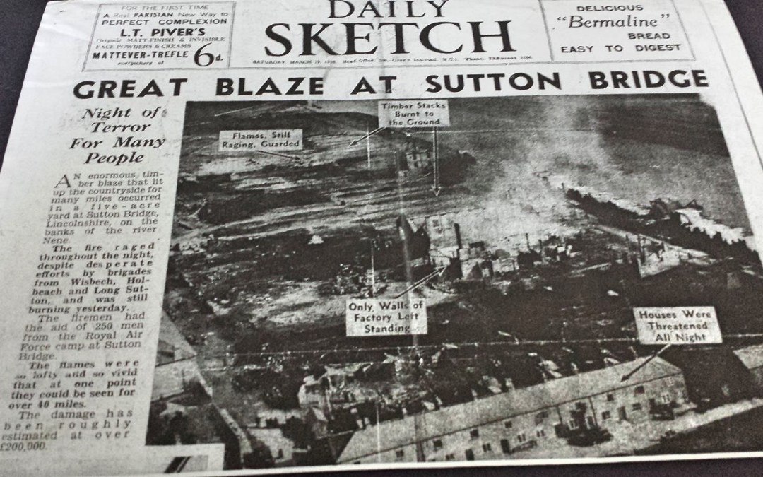 Great Blaze at Sutton Bridge