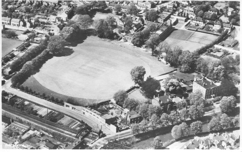 Aerial photo Grammar School playing field and surrounds