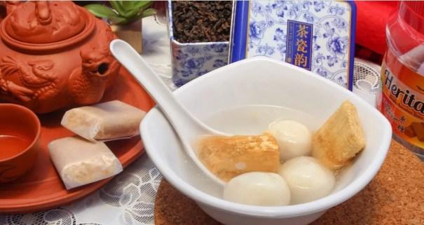 承记手工制作贡糖吃法配汤圆