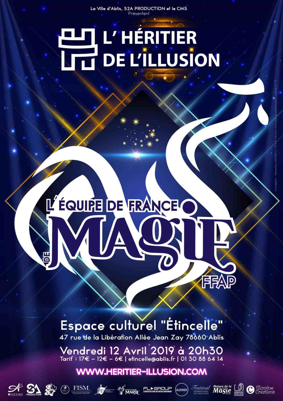 Affiche équipe de france de magie ffap 2019