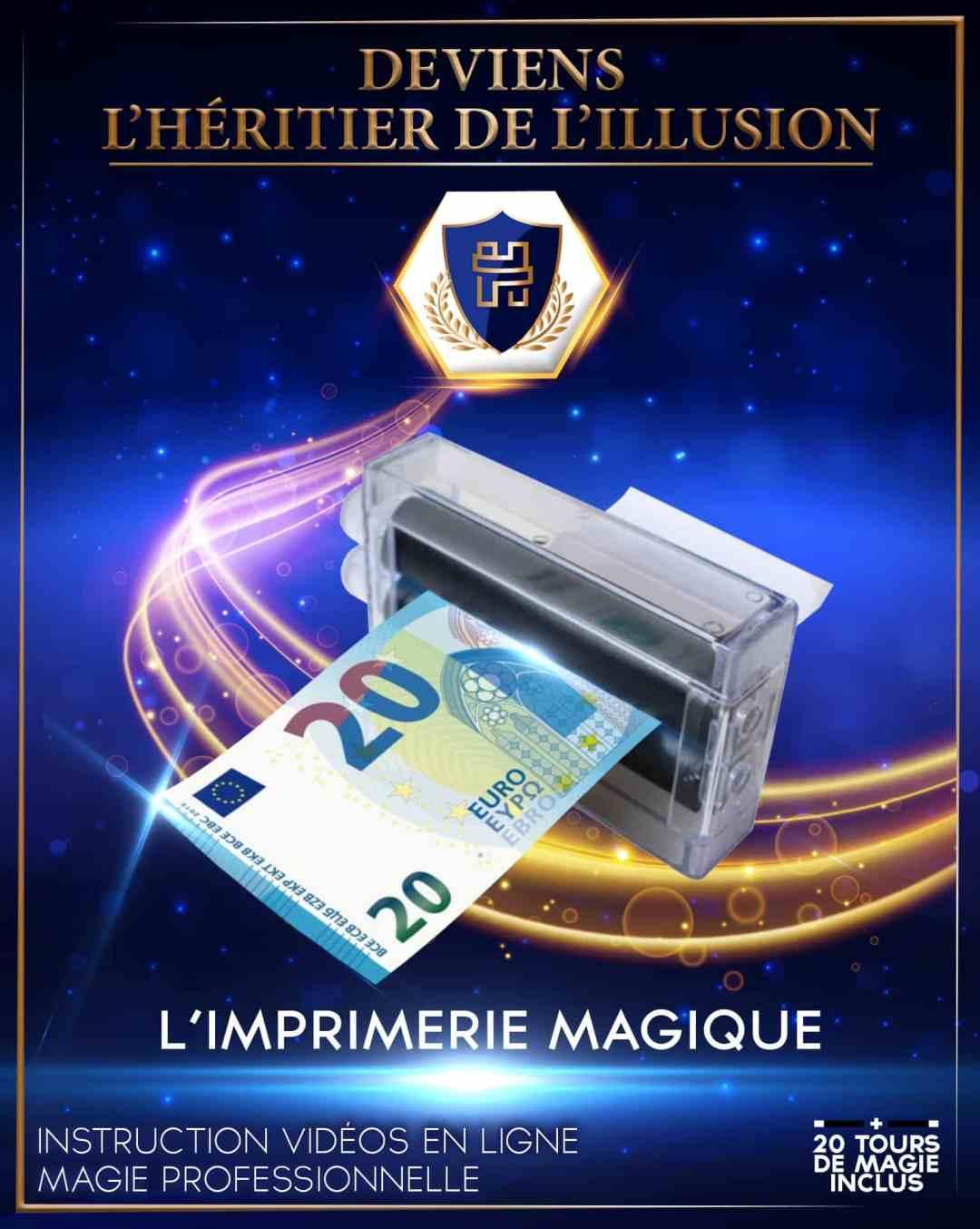 Boite de magie enfant n°2 Imprimerie magique - Billet argent