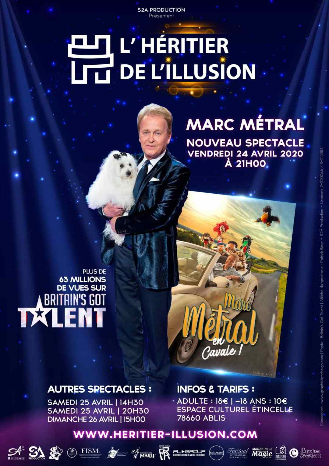 Affiche Marc Métral en cavale Ventriloque - Photo Britain's Got Talent Affiche du spectacle Patrick Bosc