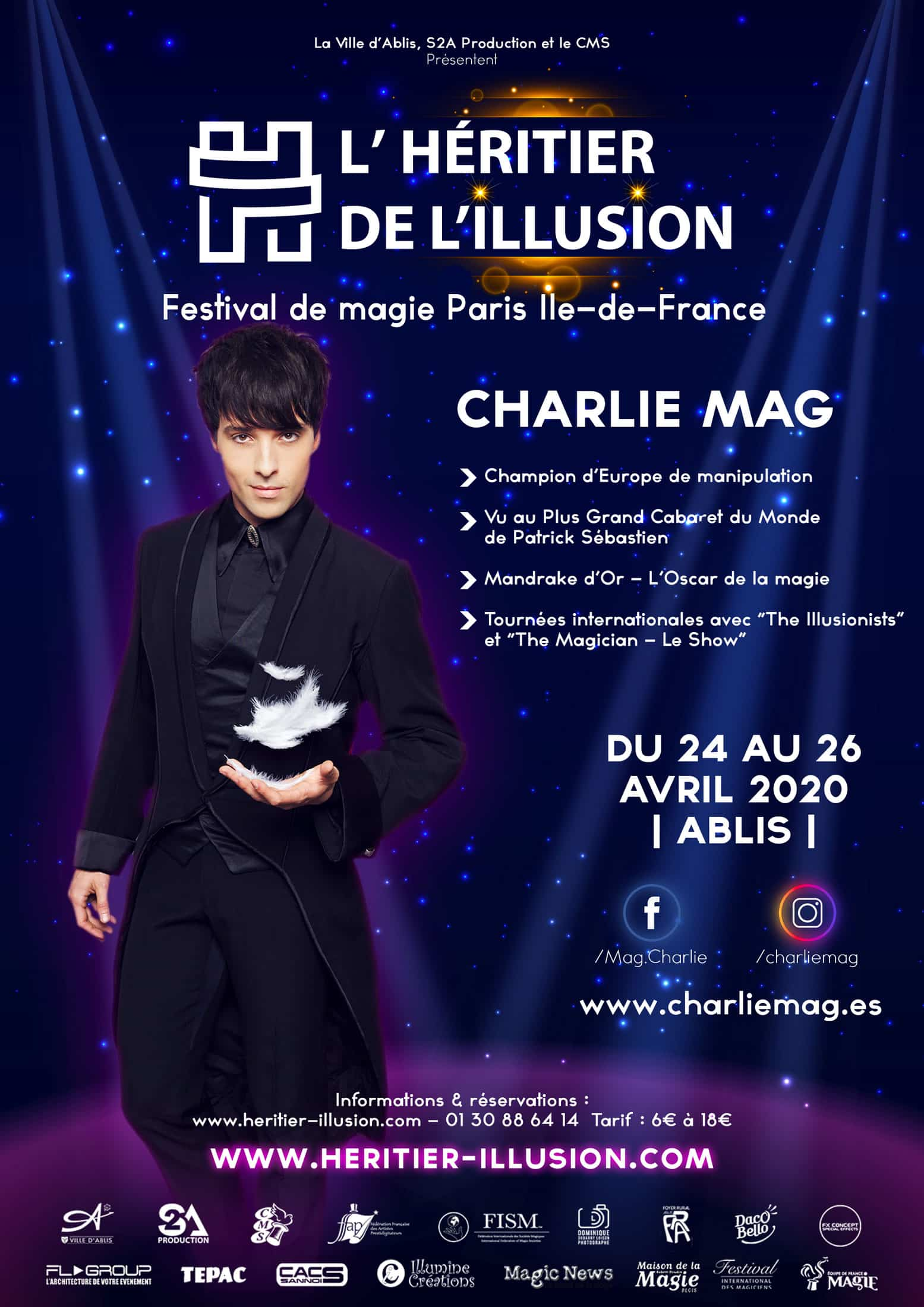 Affiche Charlie Mag Illusionniste