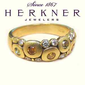 Alex Sepkus 18k Yellow Gold with Diamonds