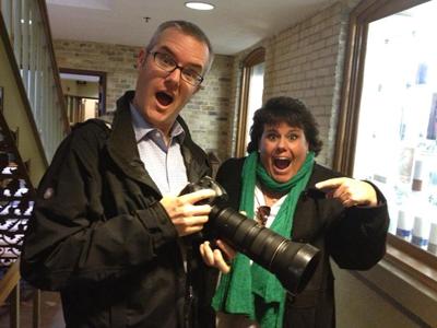My best pal Lynne and Matt Cashore!