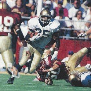 Randy Kinder, Notre Dame running back.